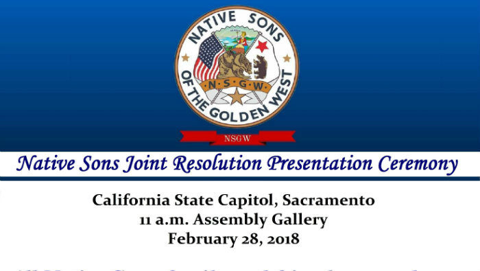 Native Son Joint Resolution Ceremony